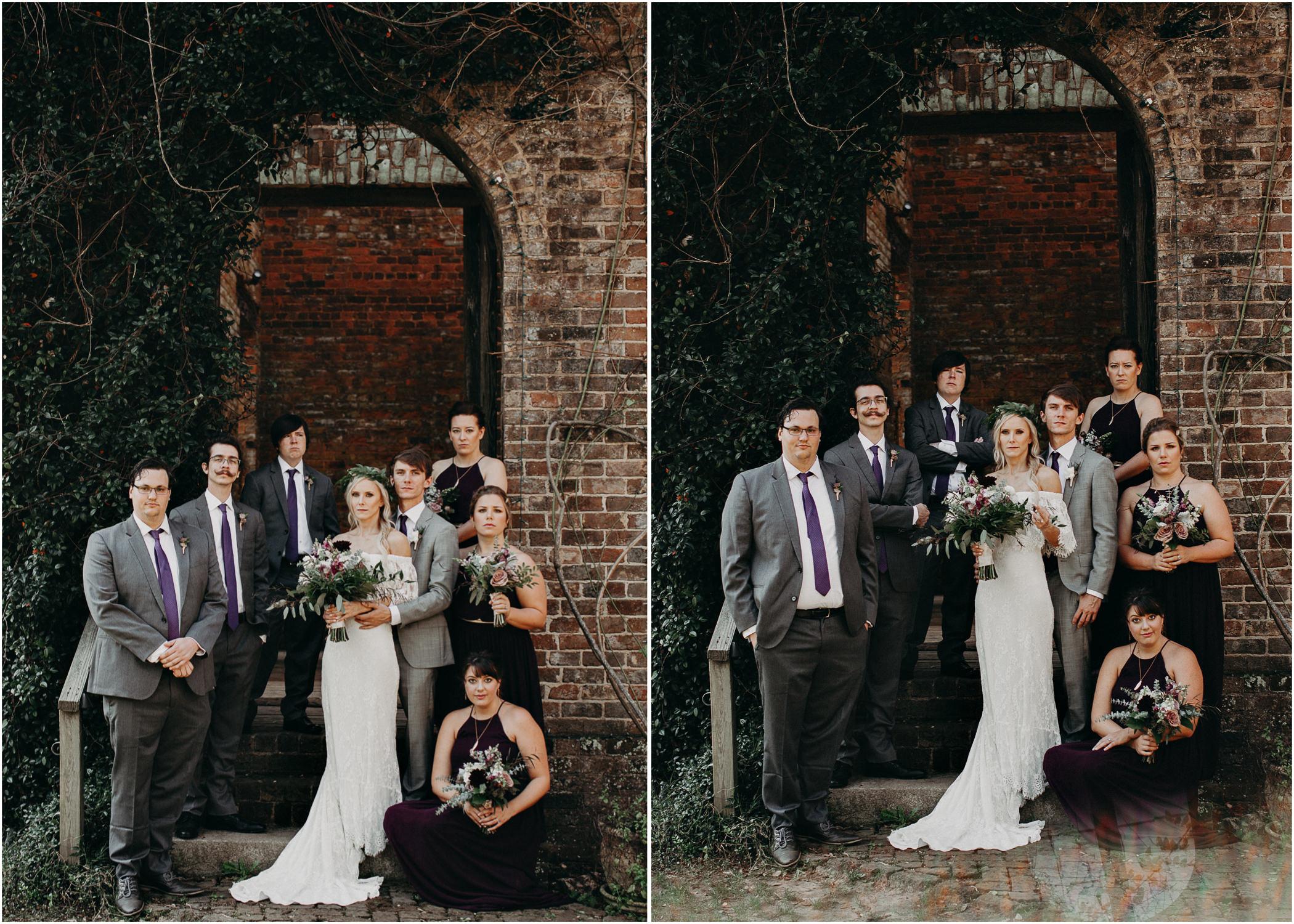 43 - Barnsley Gardens Wedding - Wedding Party portraits - First Look .jpg