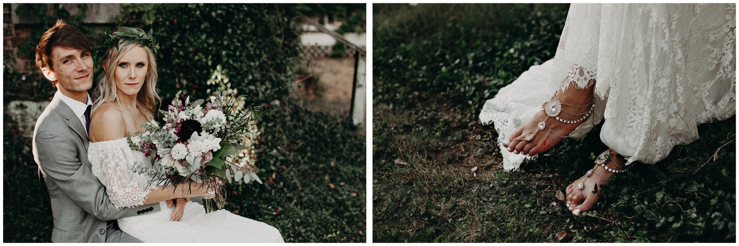46 - Barnsley Gardens Wedding - Bride & Groom Portraits - Wedding Party portraits - First Look .jpg