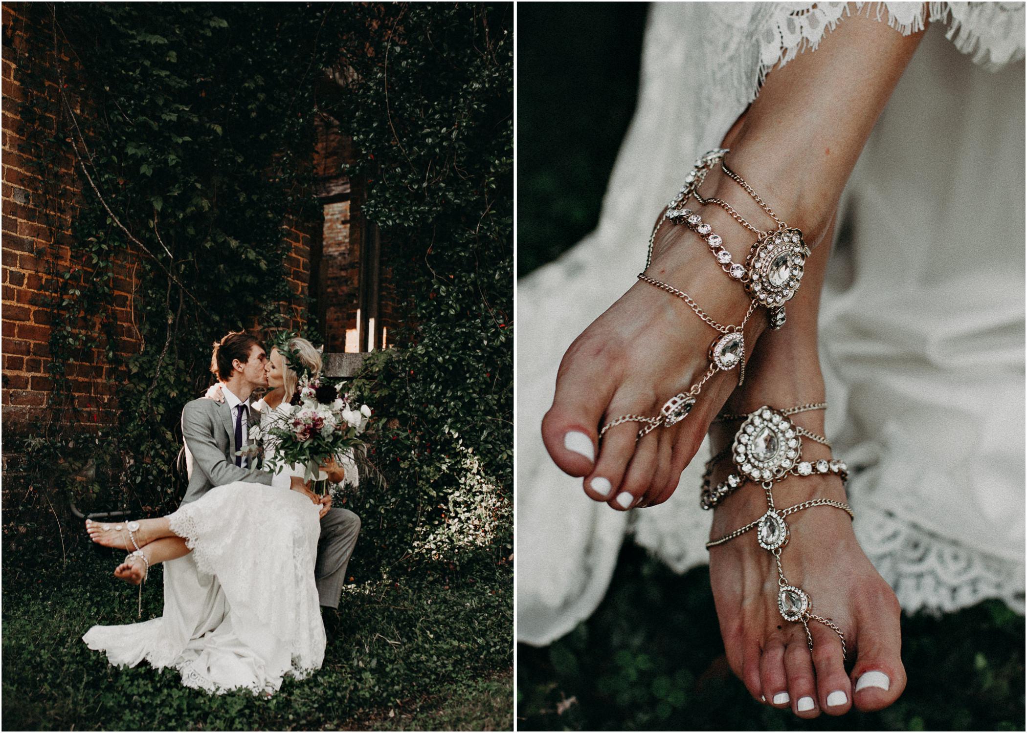 47 - Barnsley Gardens Wedding - Bride & Groom Portraits - Wedding Party portraits - First Look .jpg