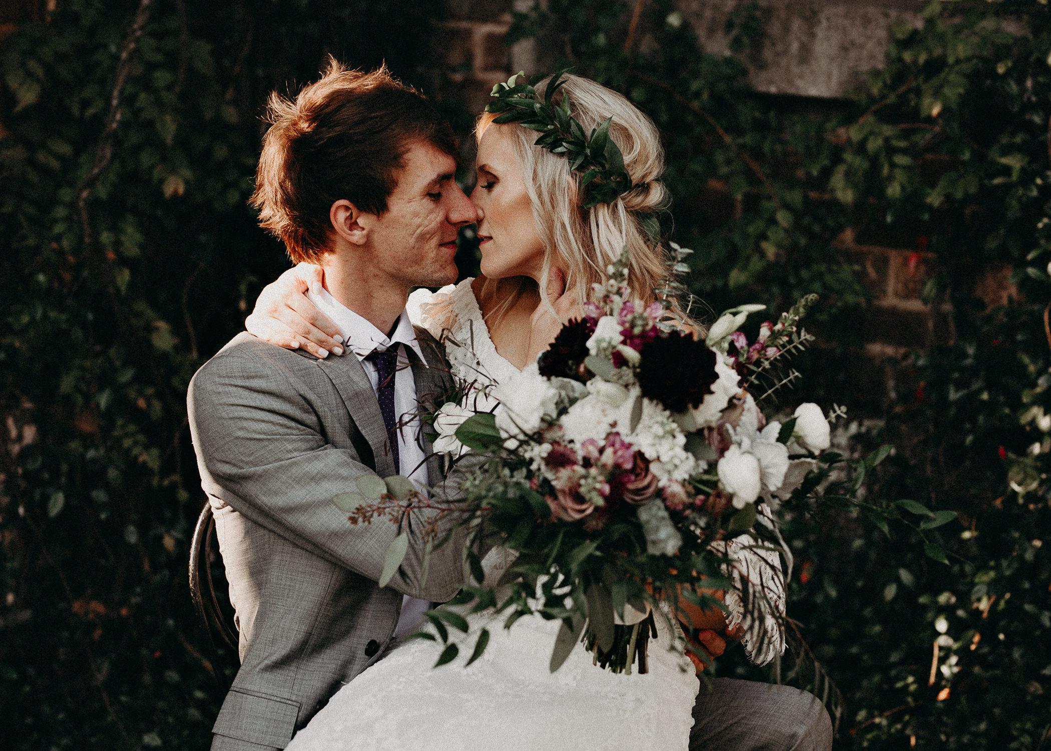 49 - Barnsley Gardens Wedding - Bride & Groom Portraits - Wedding Party portraits - First Look .jpg