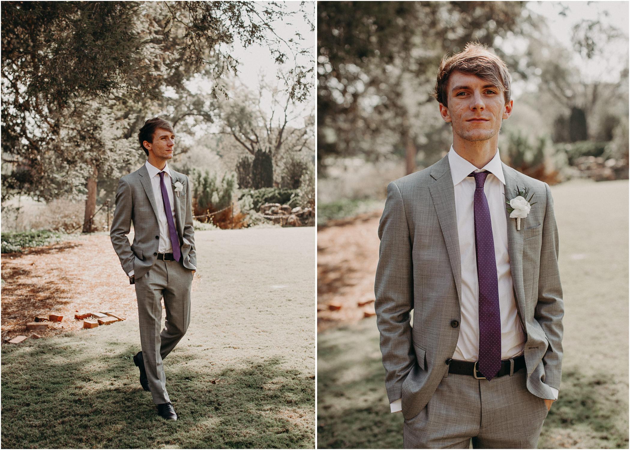 55 - Barnsley Gardens Wedding - Groom Portraits - Wedding Party portraits - First Look .jpg