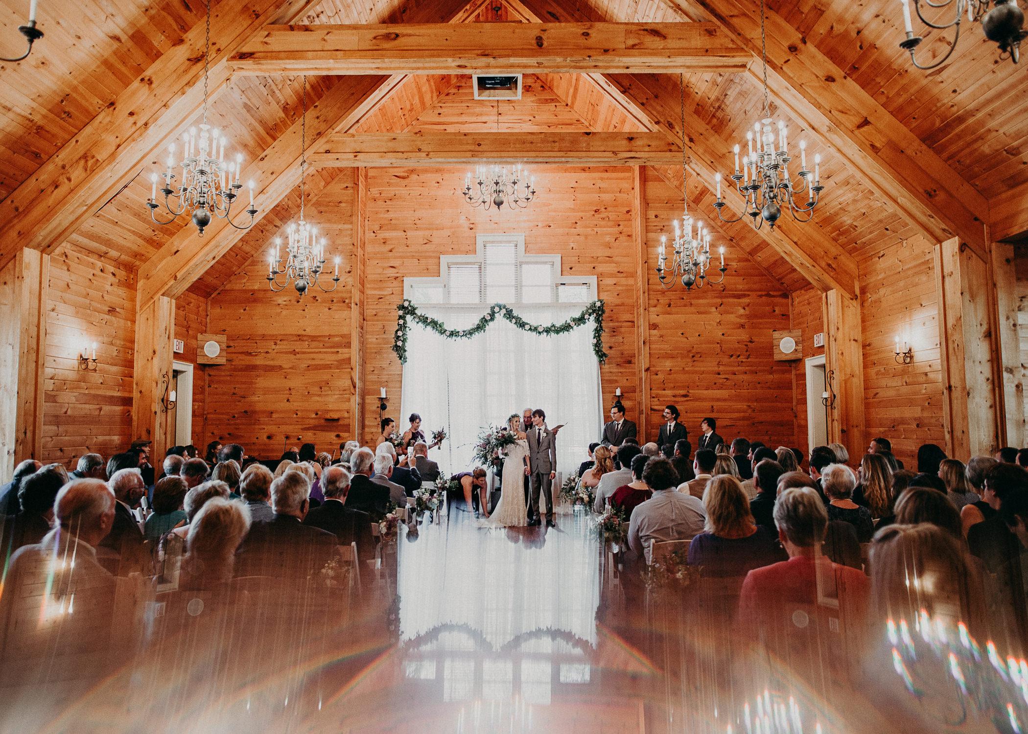 75 - Barnsley Gardens Wedding Ceremony Chapel : First Kiss - Atlanta wedding photographer .jpg