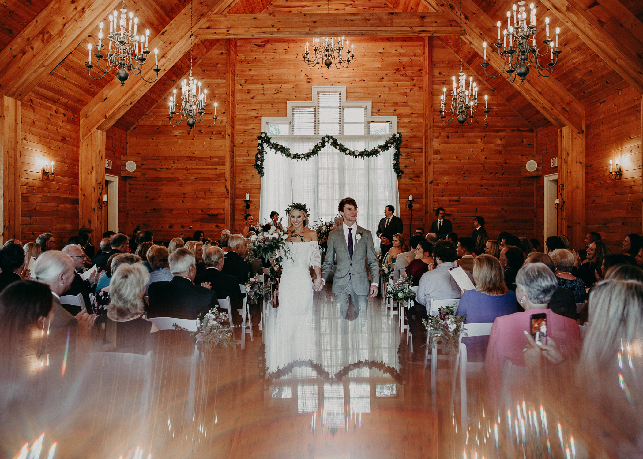 77 - Barnsley Gardens Wedding Ceremony Chapel : First Kiss - Atlanta wedding photographer .jpg