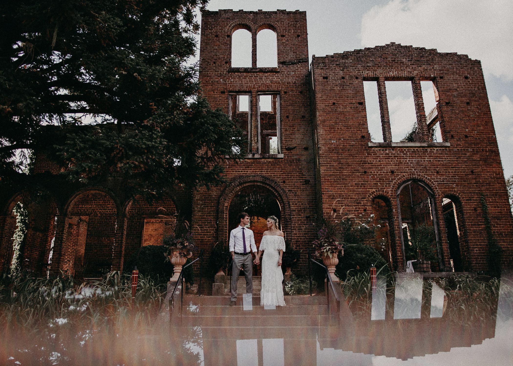 137 - Barnsley Gardens Wedding -Bride and groom portraits - Atlanta wedding photographer .jpg