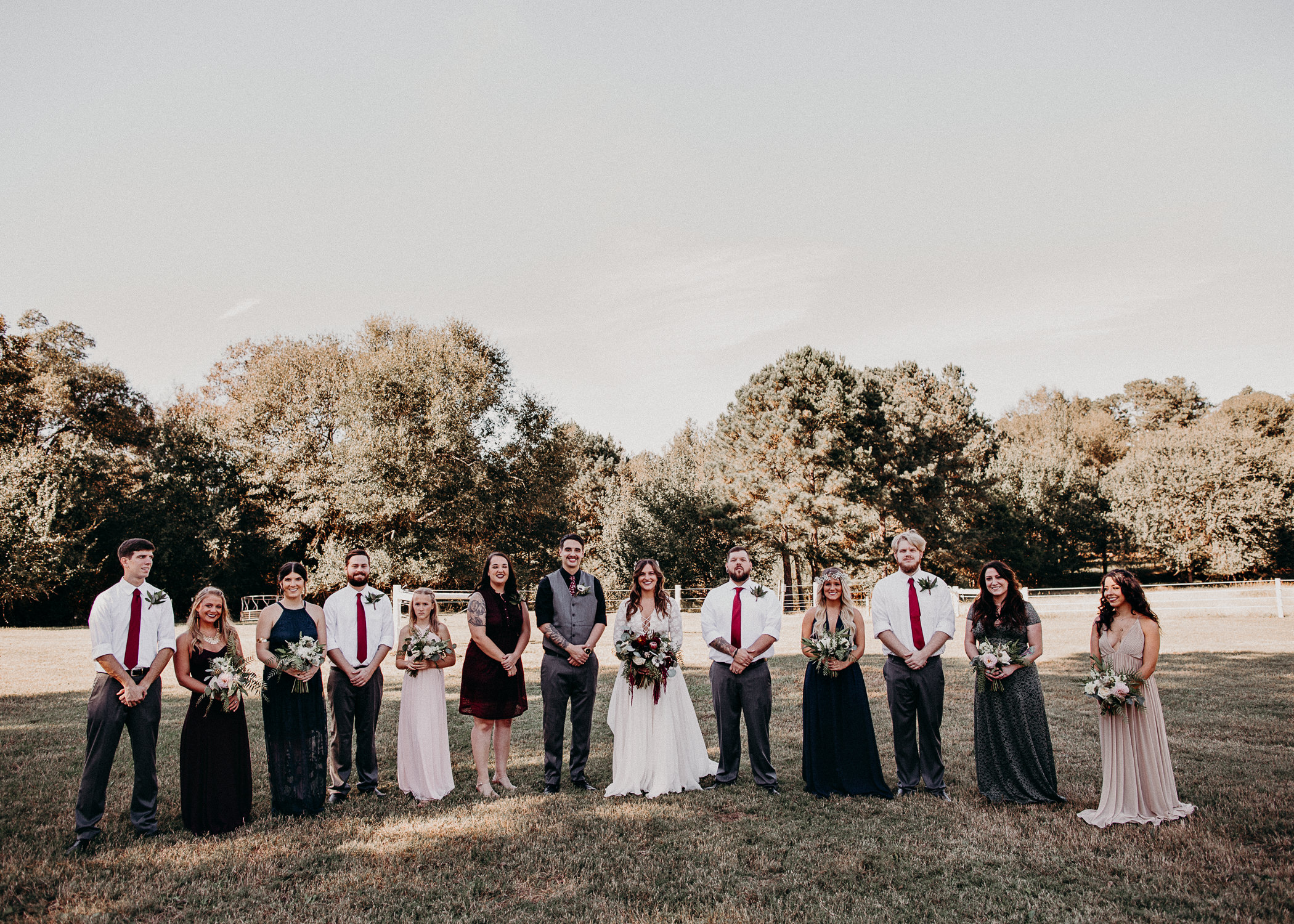 93 - Wedding groom and bride with bridal party portraits - Atlanta wedding photographer.JPG