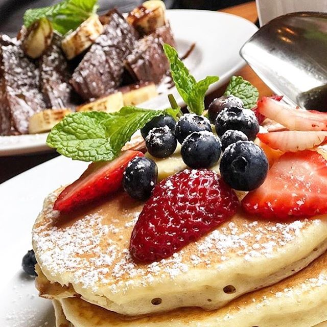 The hardest decision you'll have to make today is whether you want the pancakes or French toast for breakfast! 🥞🍓🍞
