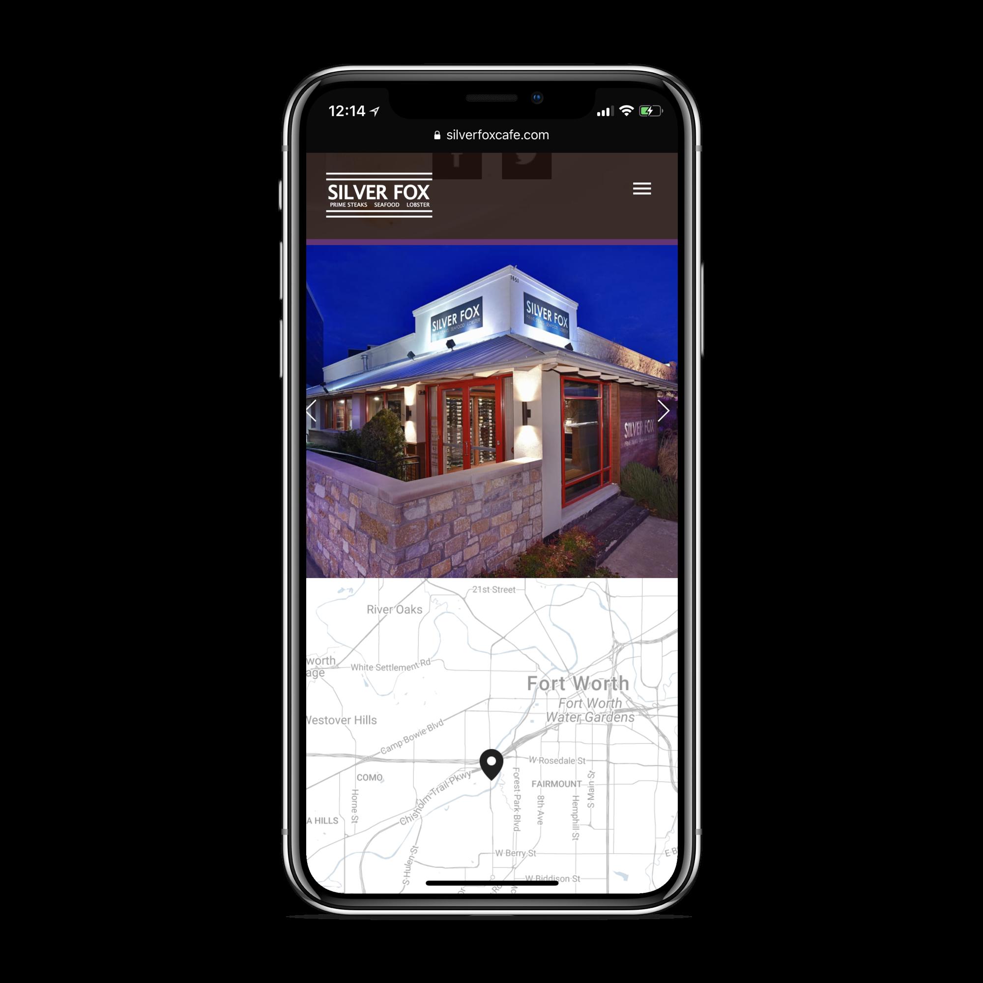 restaurant websites mobile