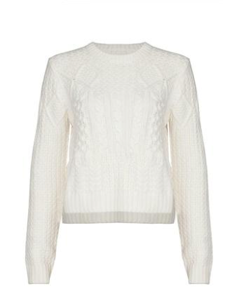 cream sweater with texture