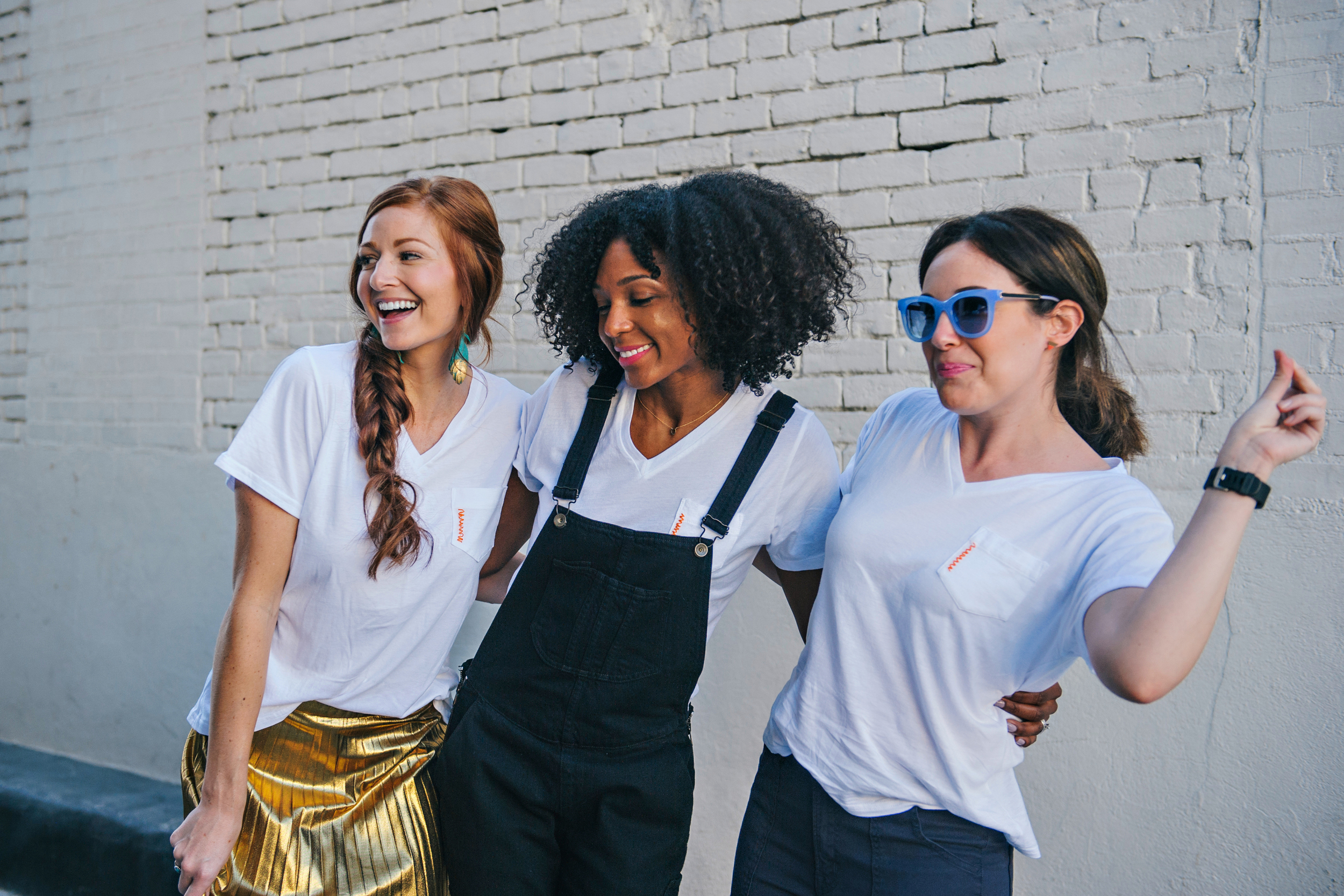feeling the great vibes in our #TheStitch white tee...SO MUCH FUN!!