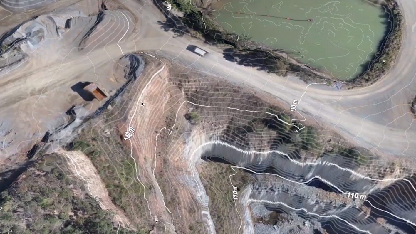 Drone footage of a Quarry ( photo credit: Trimble )