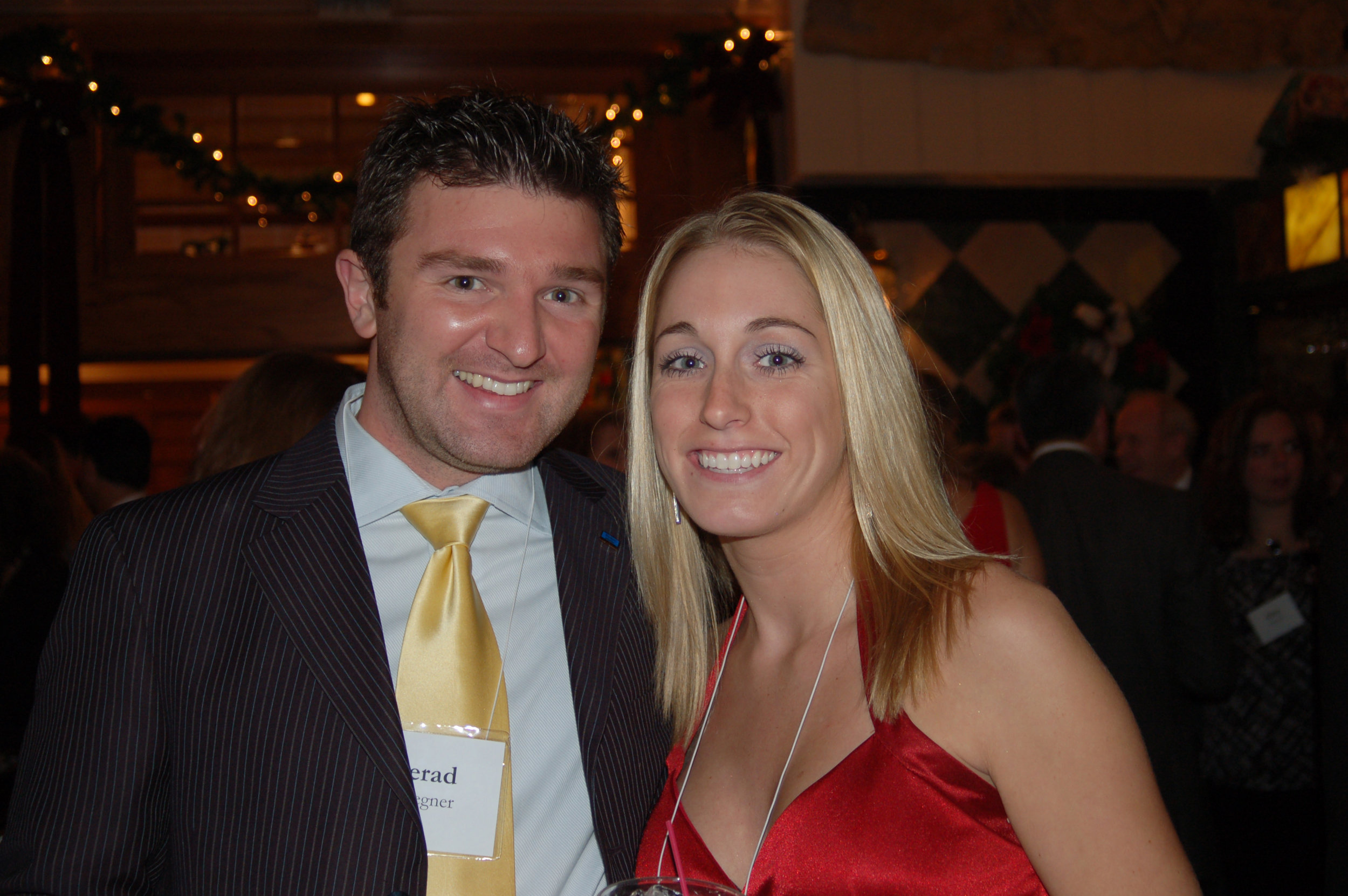 Jerad and his wife Jessica at the 2007 R/M Christmas Party