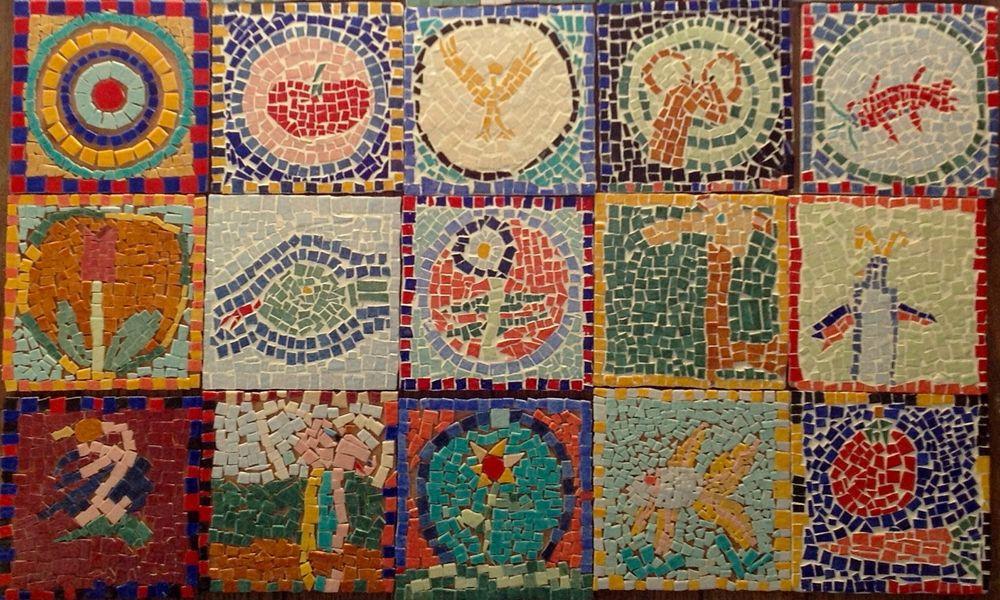 découverte de la mosaïque à l'école St Victor à Paris 5