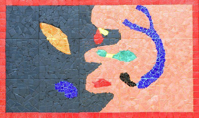 réalisation de fresques mosaïque à l'école République à Bourg la Reine
