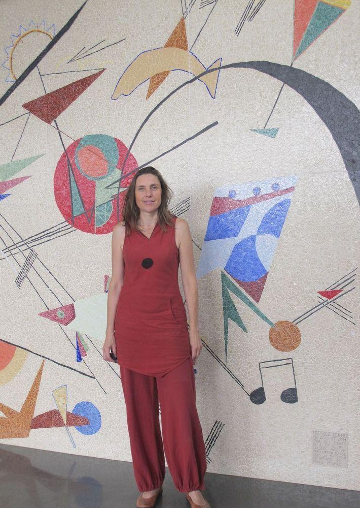 réalisation d'une fresque mosaïque au collège Albert Camus à Bois Colombes