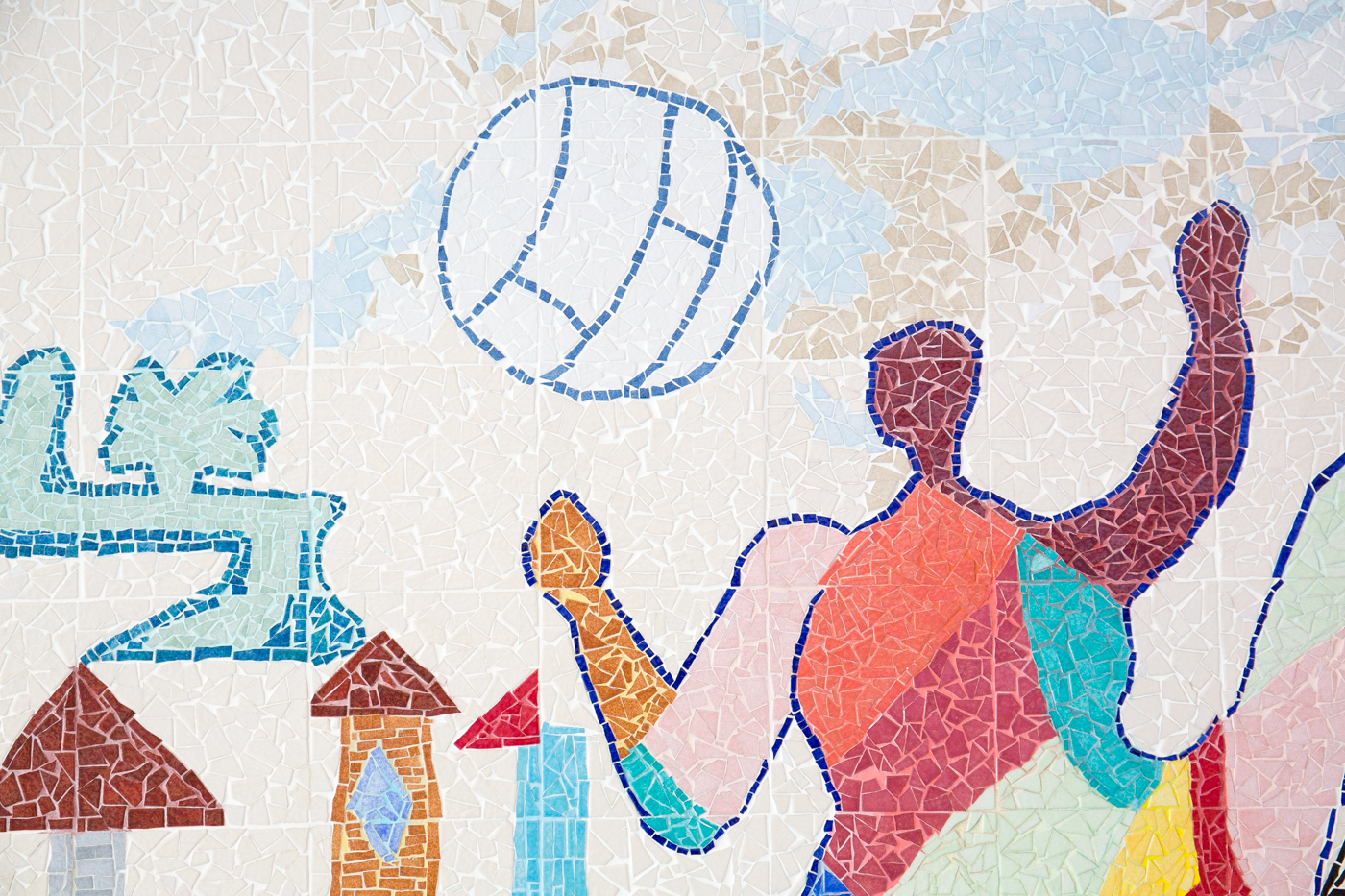 Mosaique Marie Minhac le 24 juin 2015 à l'école Françoise Dol