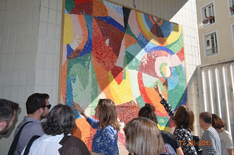 Inauguration fresque Sonia Delaunay Paris 19 - 17 juin 2015