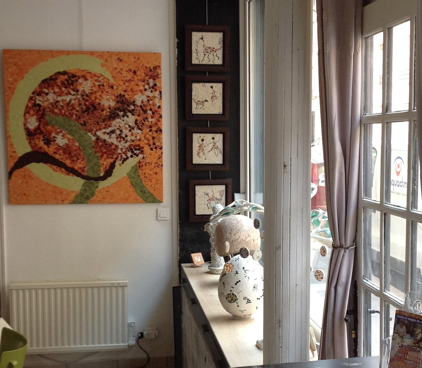 - JOURNEES DES METIERS D'ART COUPLEES AU PRINTEMPS DES ARTS DE PARIS 15L'atelier MARIE MINHAC ouvert de 11h à 19hles 6 et 7 AVRIL 201921 rue Jean Maridor - 75015métro Boucicaut - ligne 8