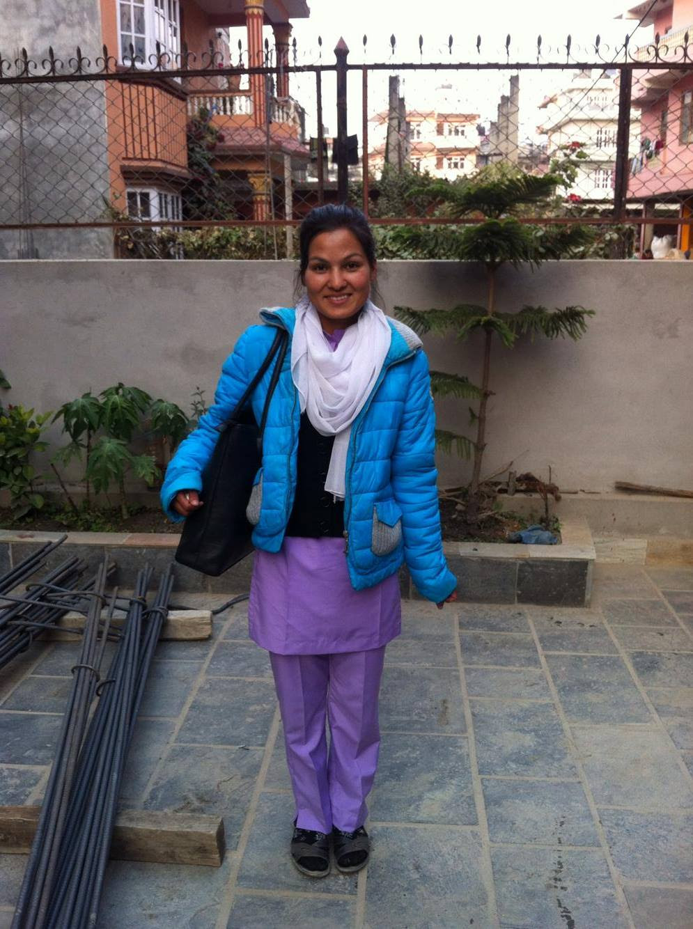 Sunita in her brand new nursing school uniform!