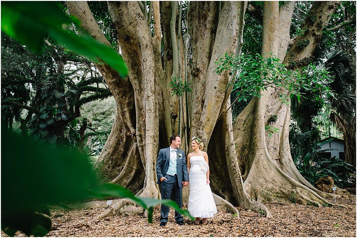 Boho wedding photography at Flamingo Gardens