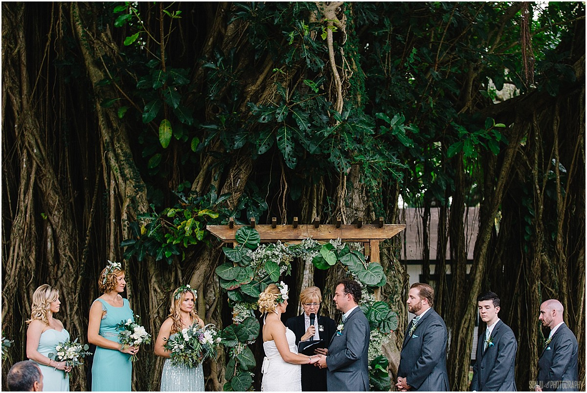 Best wedding photographer in South Florida at Flamingo Gardens