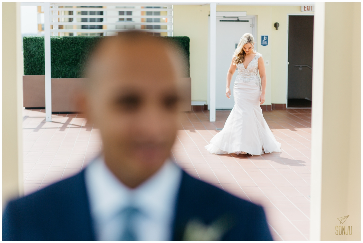 First look wedding photography at the Pelican Grand Resort Fort Lauderdale Florida