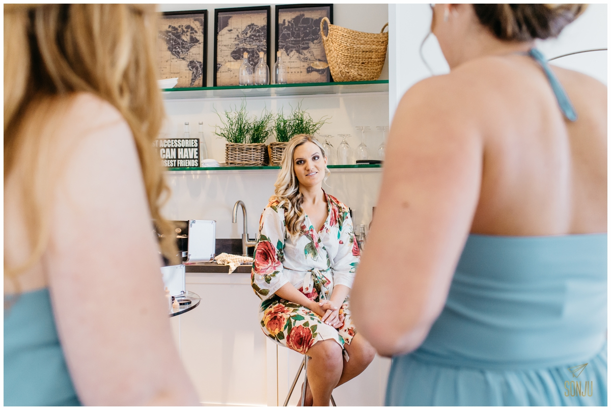 Bride gets ready at the Pelican Grand Resort Fort Lauderdale Florida