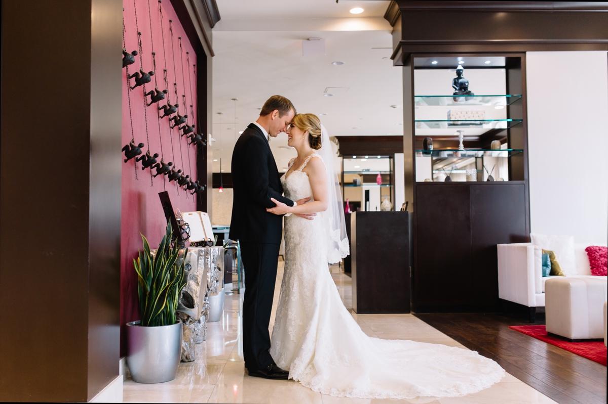 Bride and Groom wedding day at Renaissance Plantation Hotel