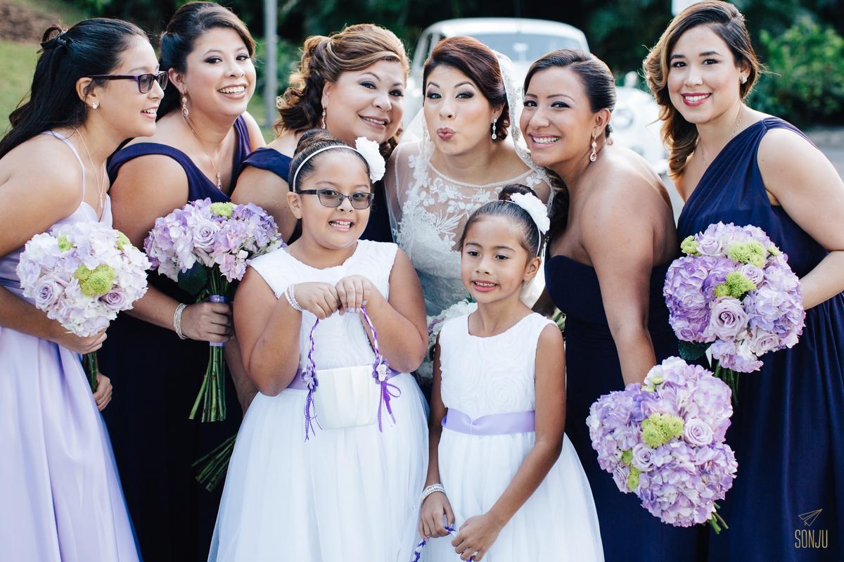 Bride and bridesmaids south florida wedding photographer