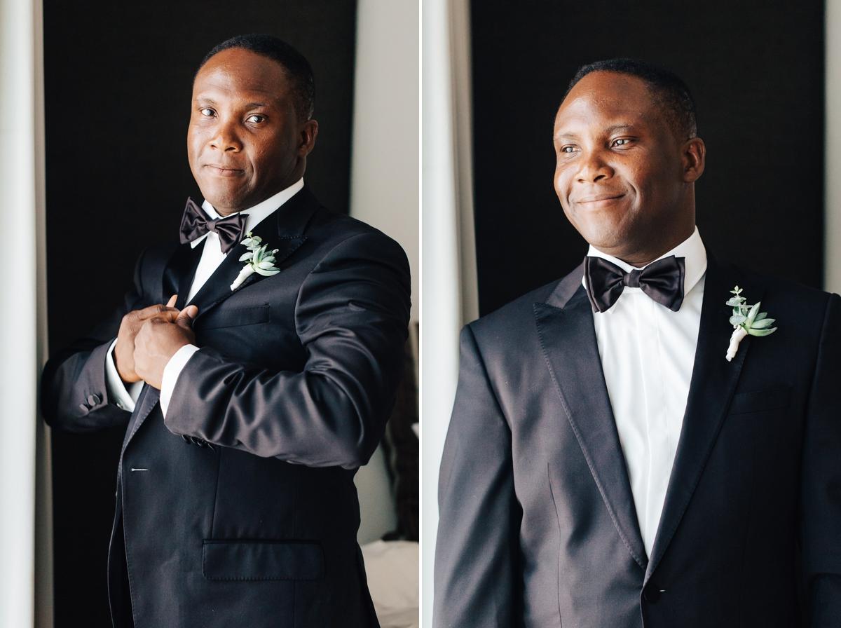Dramatic Portrait of Groom - south florida wedding photographer