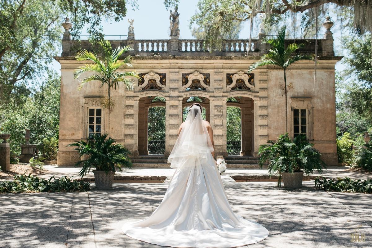 Wedding Portraits at Vizcaya Miami Florida