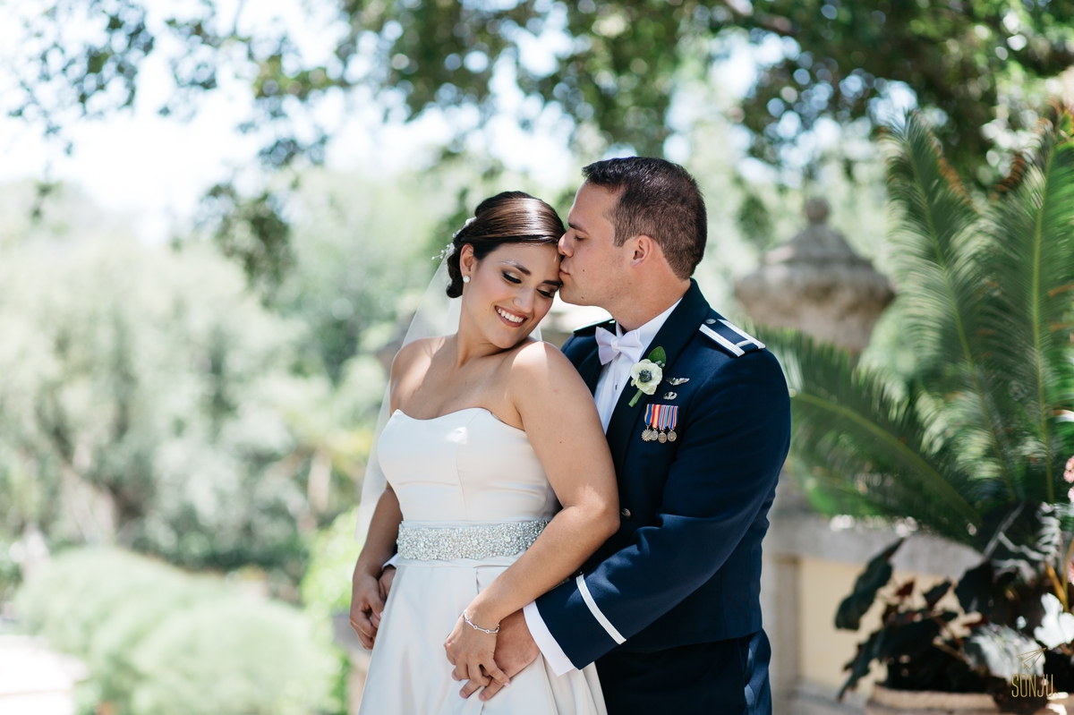 Wedding portraits at Vizcaya South Florida wedding photographer