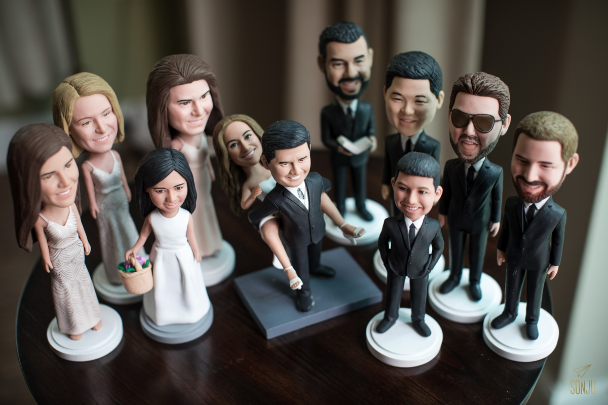 Best wedding party gifts ever - bobbleheads!
