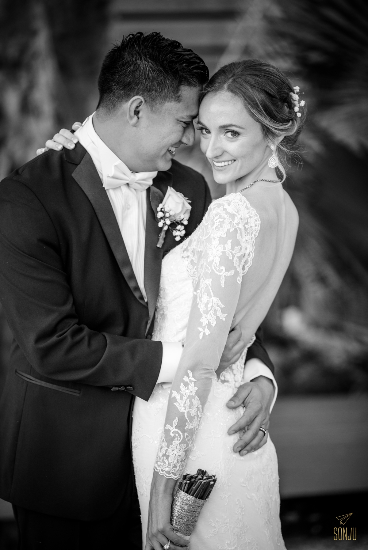 Bride and groom portrait at the Historic Stranahan House & Museum in Ft Lauderdale Florida