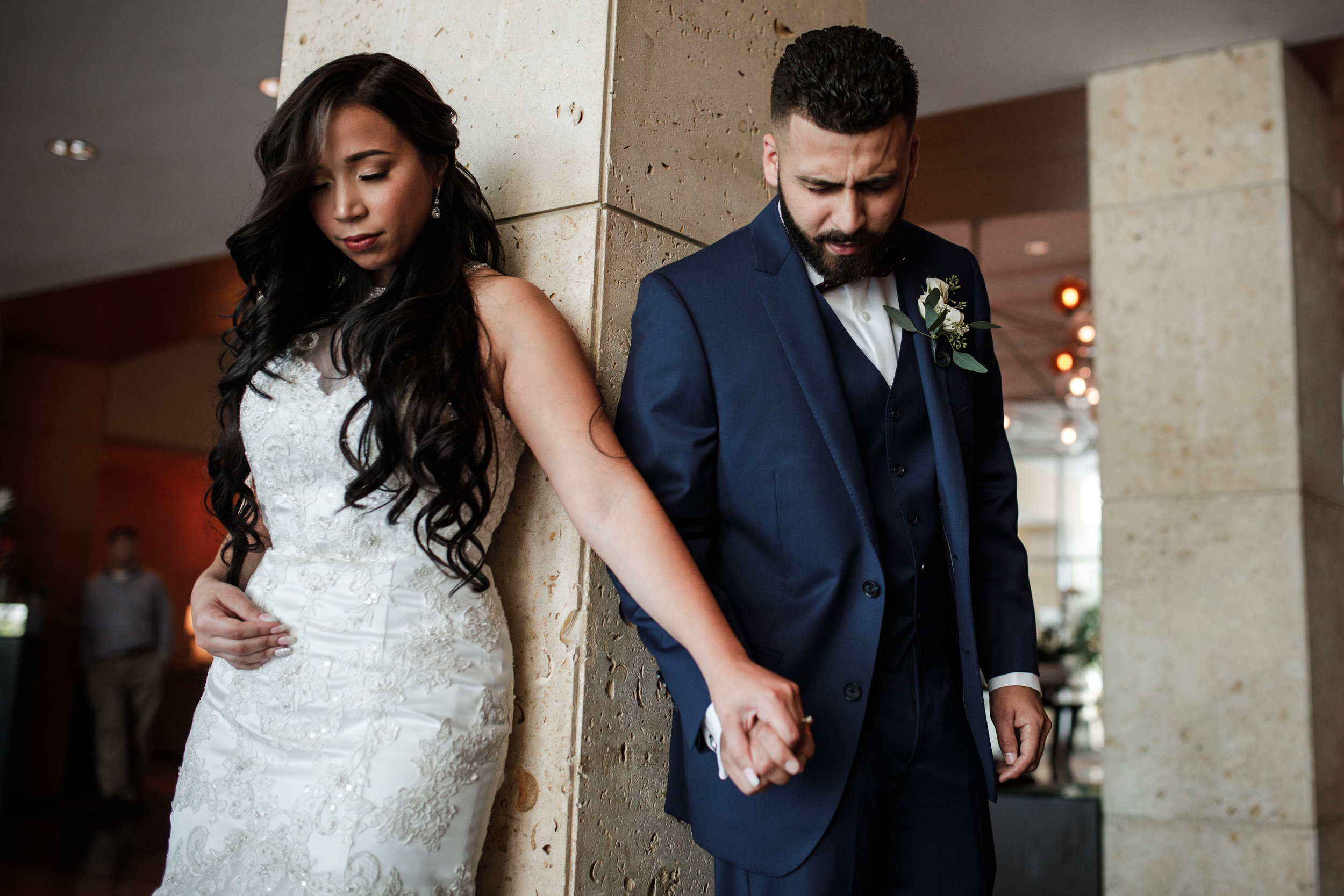 First-touch-before-ceremony-miami-wedding-photographer-sonju