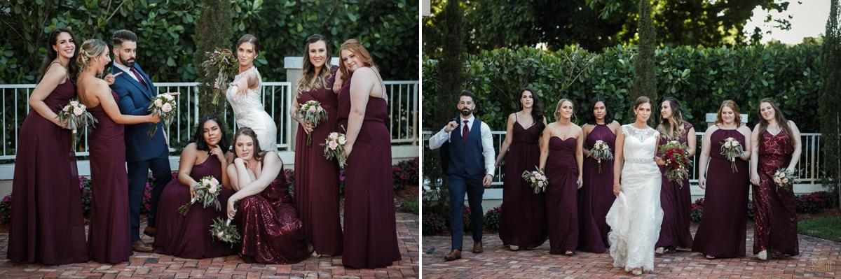 Bridal-party-at-Coral-Gables-Country-Club-Miami-Florida