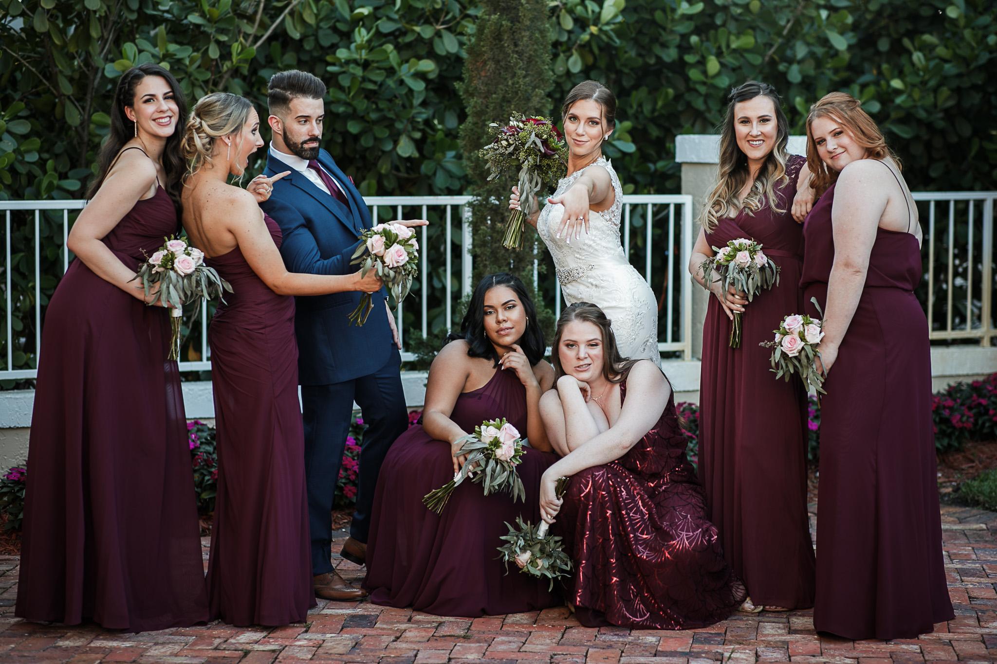 Miami-Wedding-Photographer-Coral-Gables-Venue-Bridesmaids-group-shot