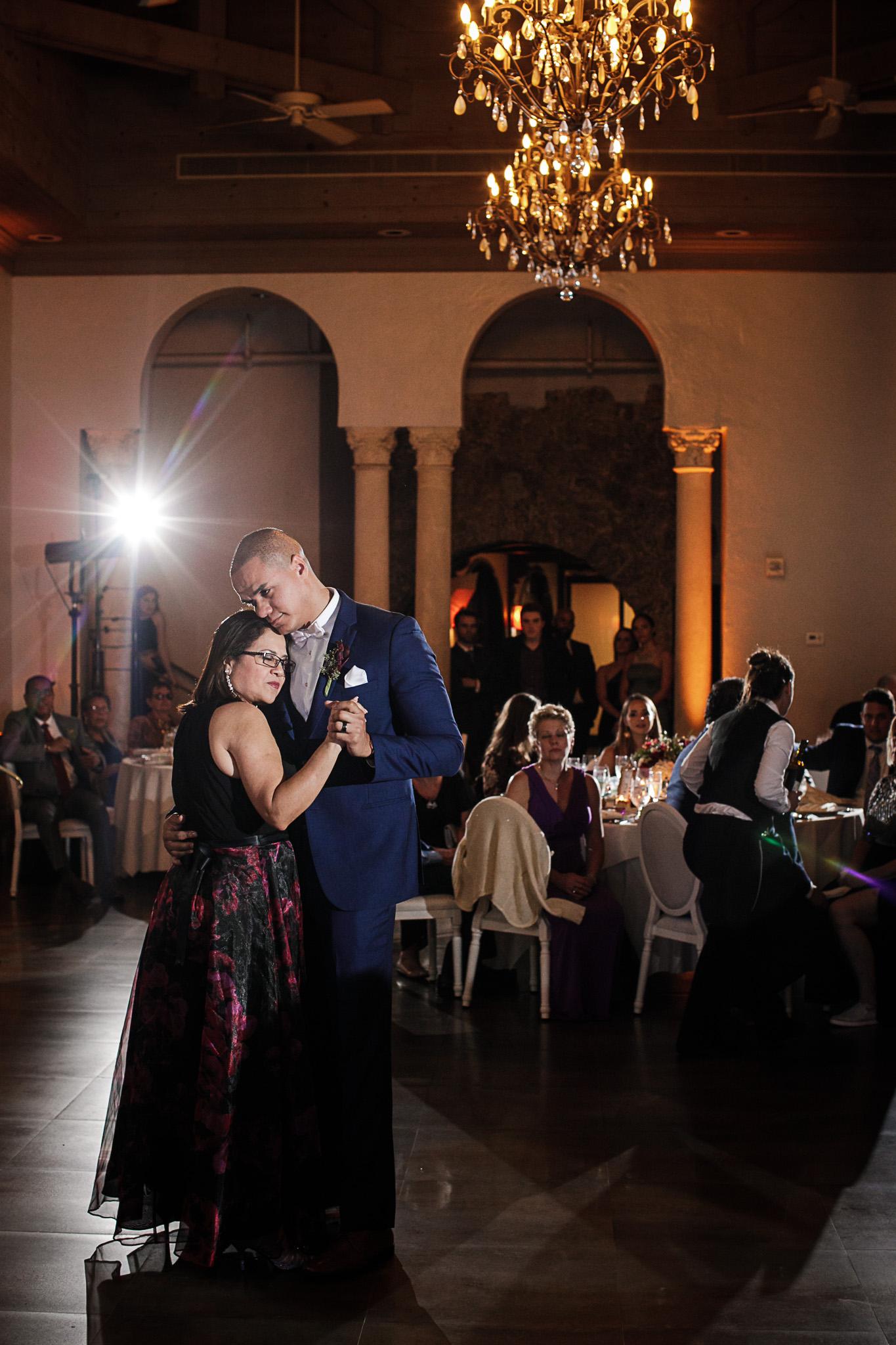 Miami-Wedding-Photographer-Coral-Gables-Venue-Groom-Mother-Dance