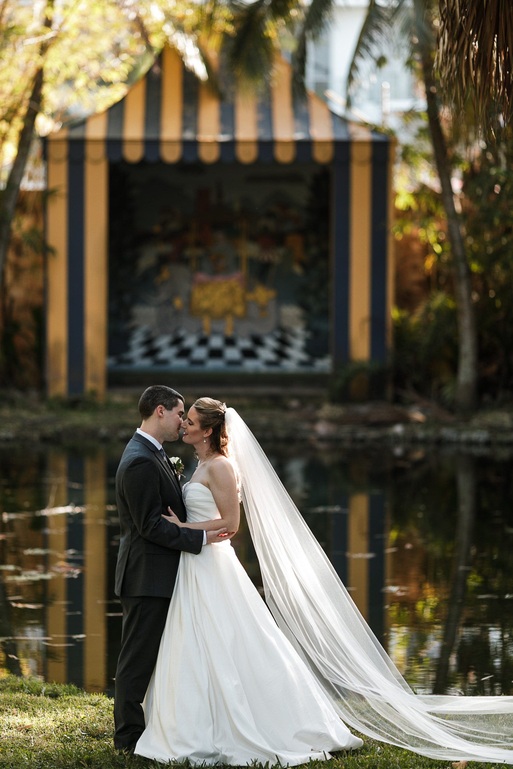 Fort-Lauderdale-Wedding-Photographer-Bonnet-House-Portraits-Near-Dry-Fountain
