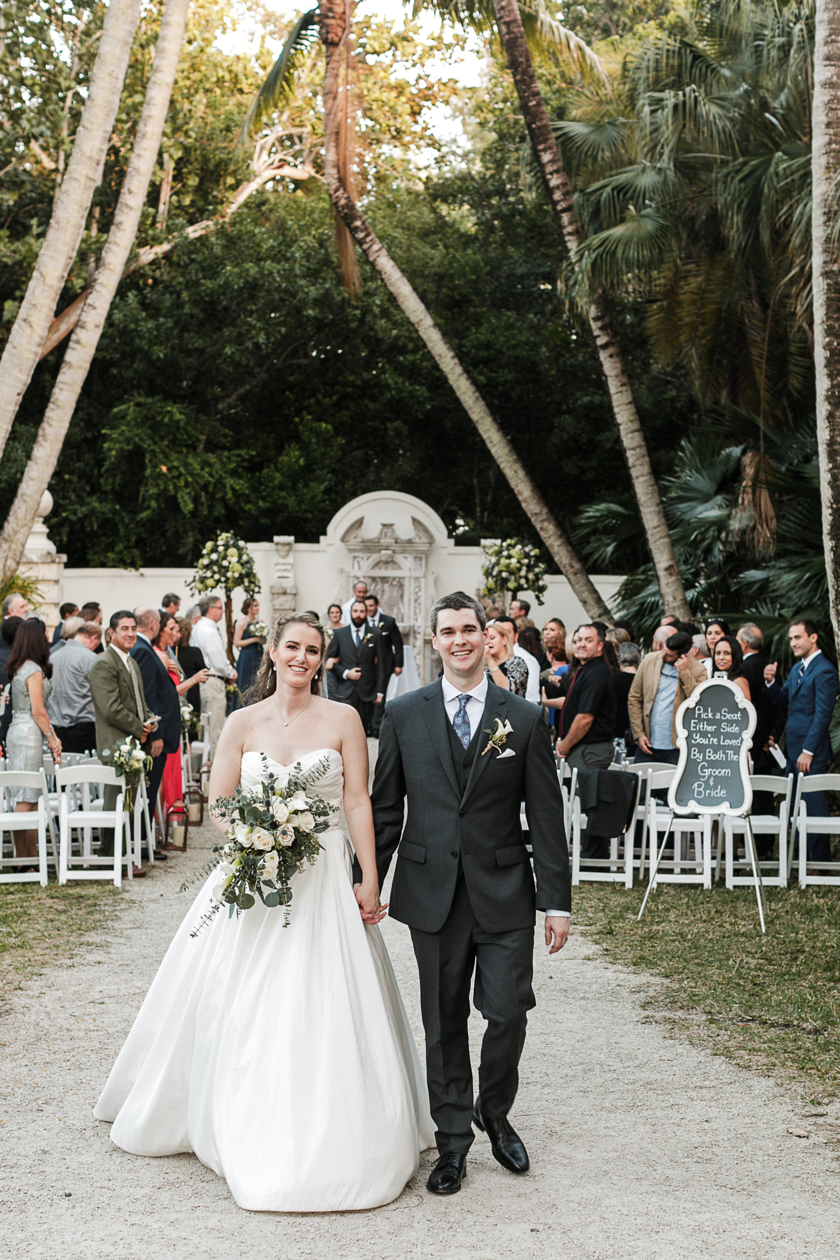 Fort-Lauderdale-Wedding-Photographer-Bonnet-House-Ceremony-Recessional