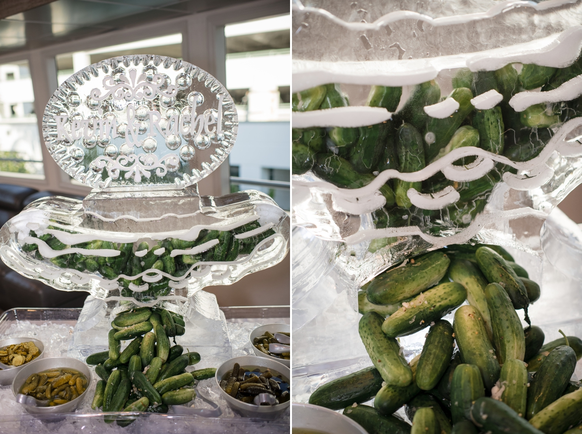 Custom-pickle-ice-sculpture