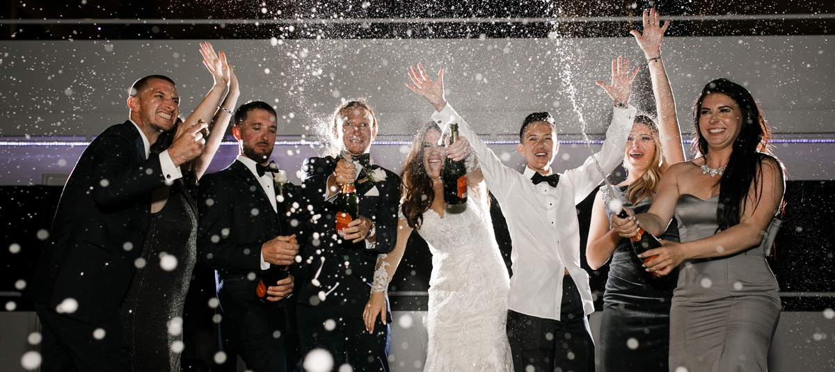 Champagne-Exit-spray-South-Florida-Wedding-Photographer