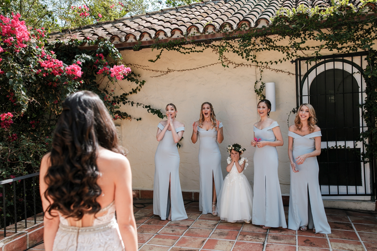 First-look-bridesmaids-villa-woodbine-miami-wedding-photographer