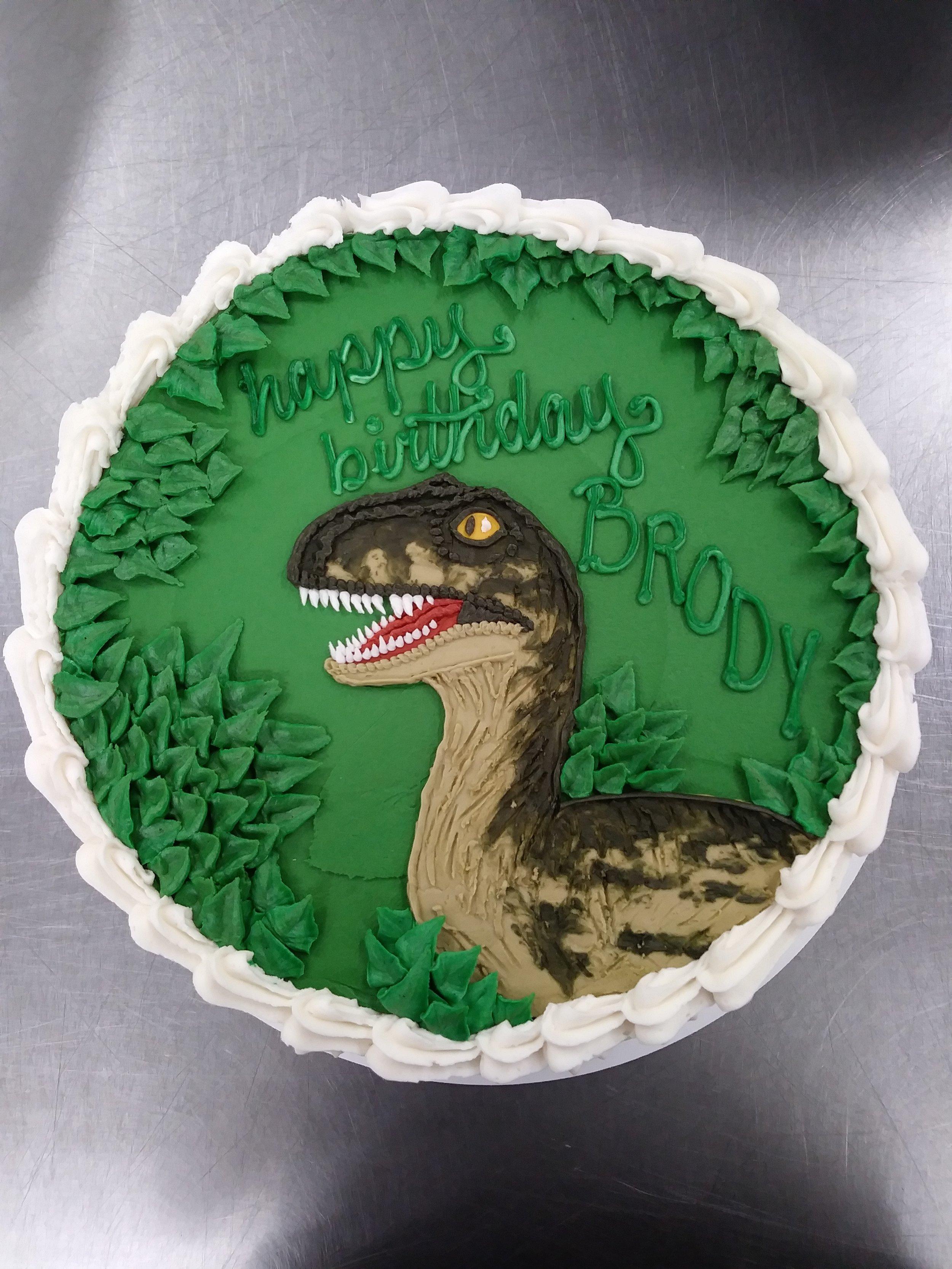 A26. Dinosaur Cake in Buttercream ($20 Deco).JPG