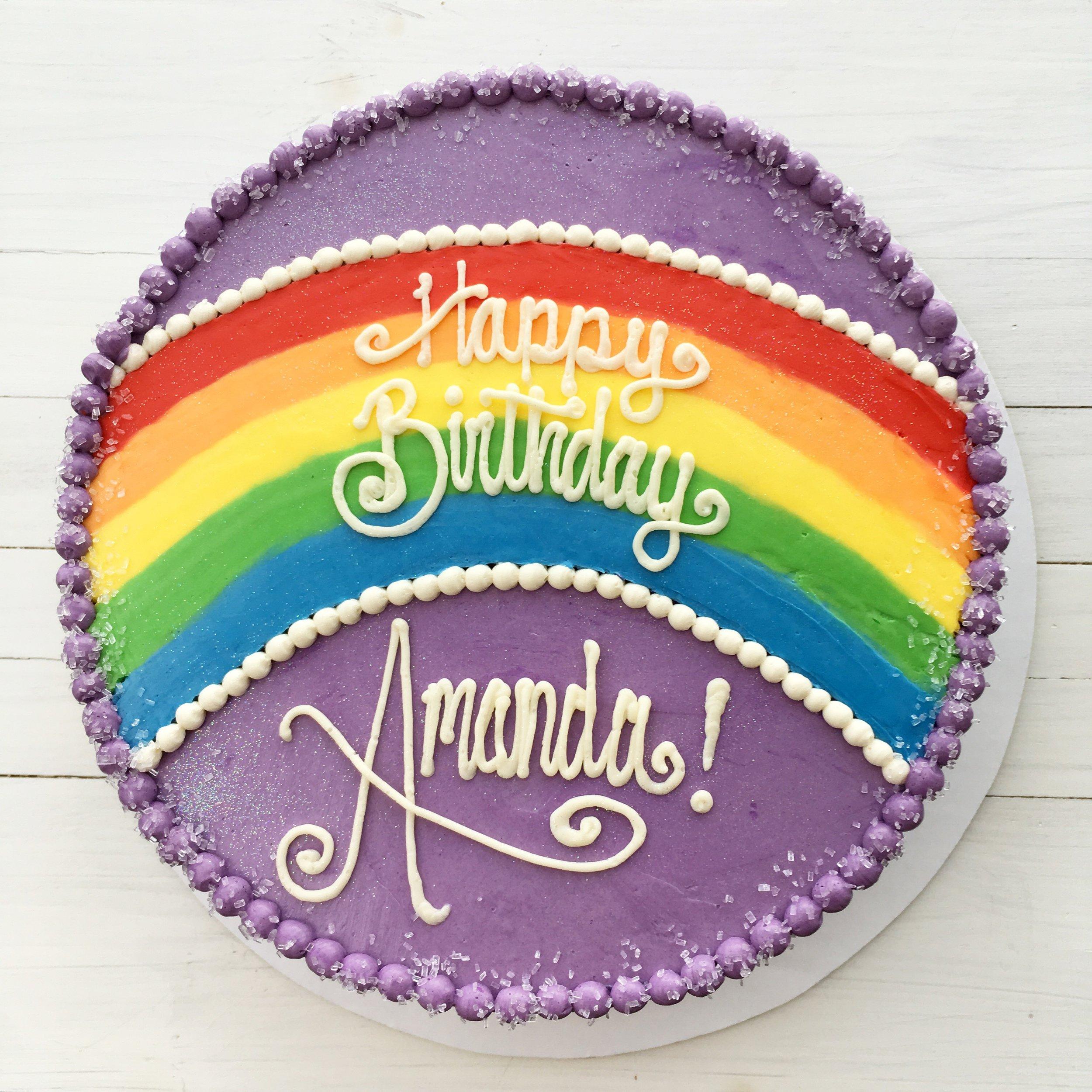 A41. Rainbow Top Cake ($10 Deco).jpg