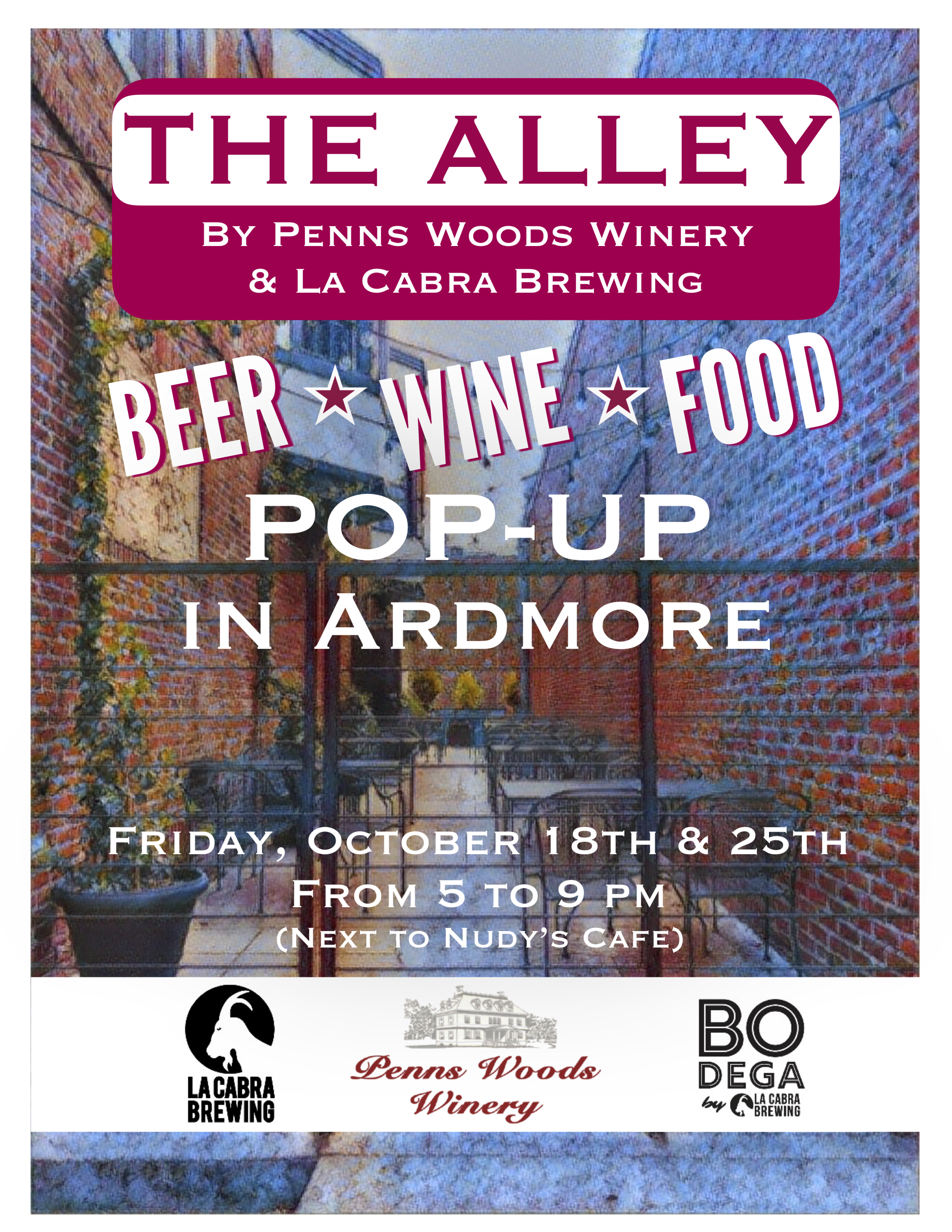 The Alley _ La Cabra Brewing Penns Woods Winery Bodega by La Cabra