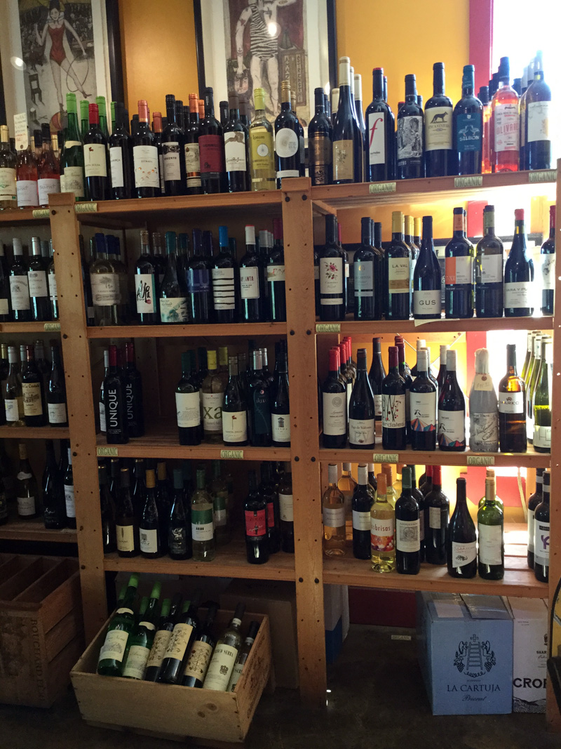 Large selection of wines from all over the world.