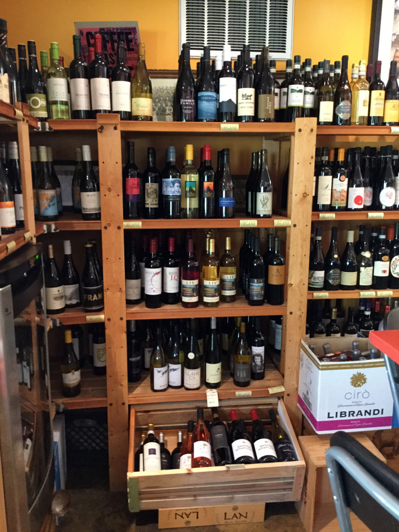 A selection of Northwest wines and we also offer chilled whites.