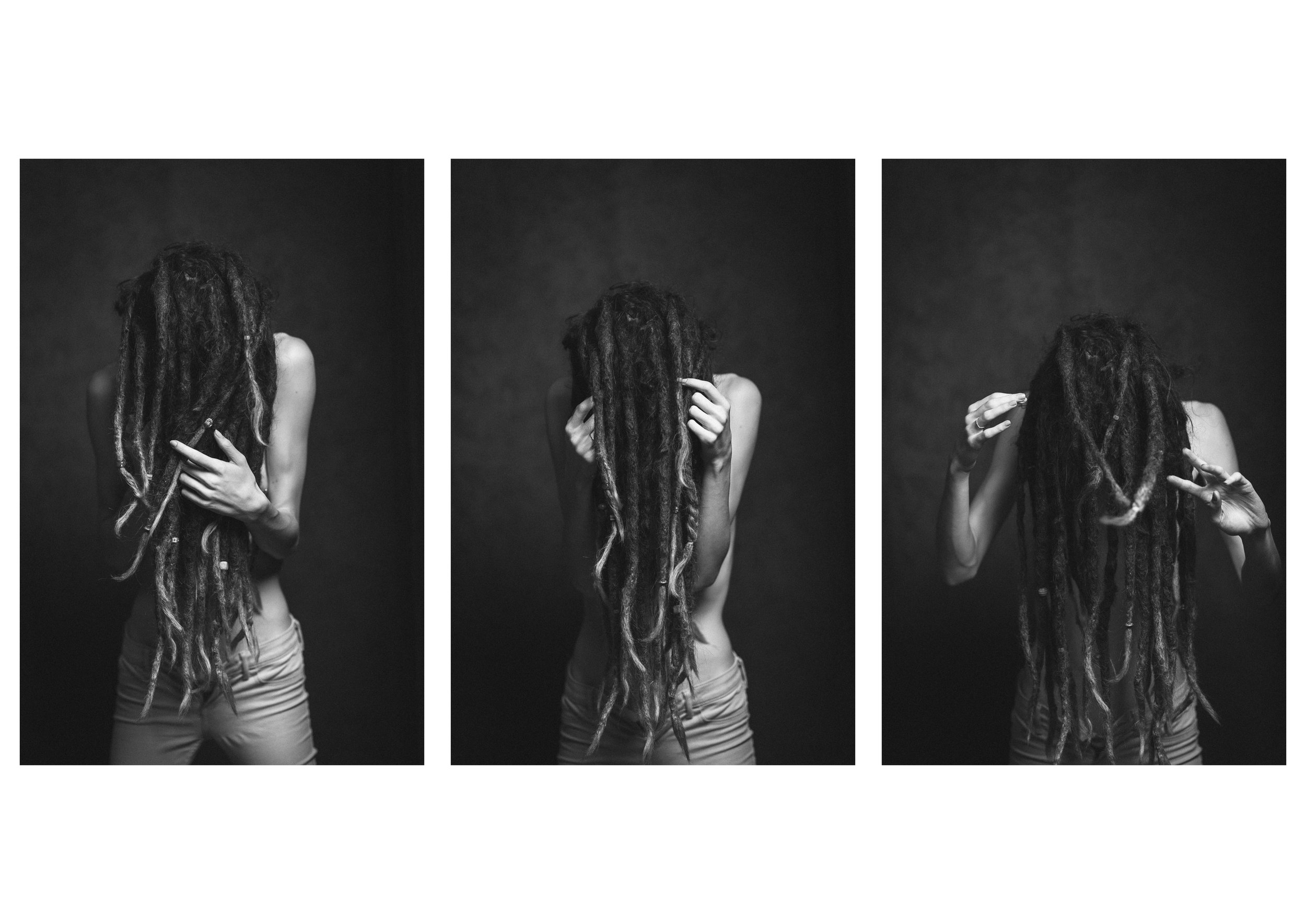Jess, with dreads