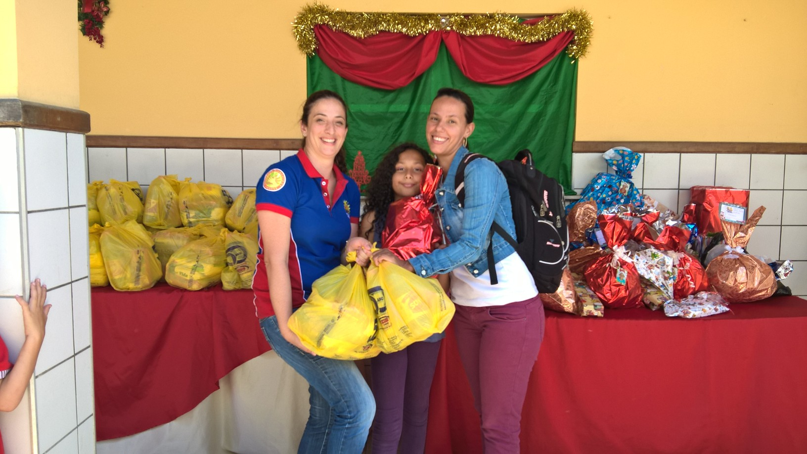 Food baskets for each family for year-end break