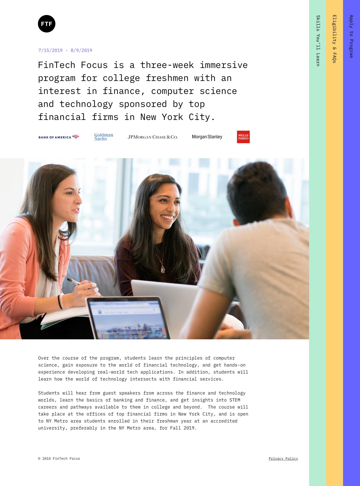 FinTech Focus — STUDIO CHOW